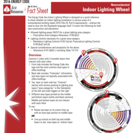 Nonresidential Indoor Lighting Wheel - Energy Code Ace - Utility